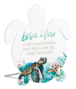 Sentiment 13x15 3D Sea Turtle LOVE