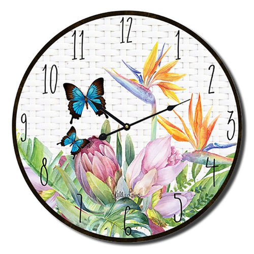 Fiesta Butterfly Wall Clock By Kelly Lane Pazaz Online