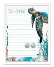 Load image into Gallery viewer, Whiteboard 30x40 Sea Turtle TO DO LIST