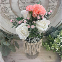 Load image into Gallery viewer, Vase ALS-054 Lge White/Pink Flowers