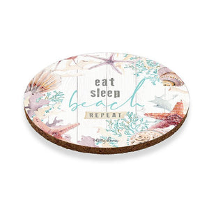 Coaster Round S/6 10cm Starfish EAT