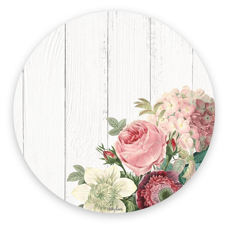 Placemat Round S/6 33cm Heirloom WHITE