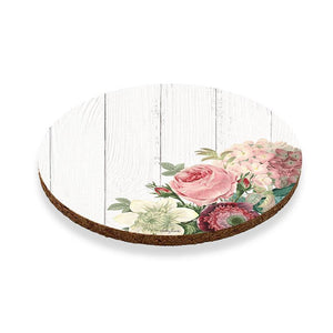 Coaster Round S/6 10cm Heirloom WHITE
