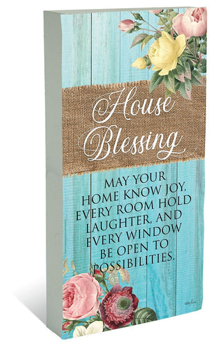 Plaque Block 40x80 Heirloom HOUSE
