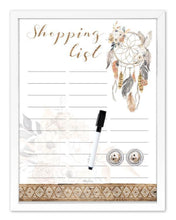 Load image into Gallery viewer, Dreamcatcher Shopping List Whiteboard Wall Print