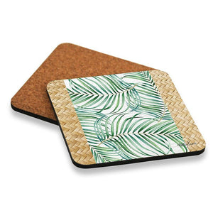 Coaster S/6 10x10 Hibiscus PALM