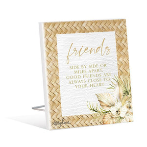 Sentiment Plaque 12x15 3D Palomino FRIENDS