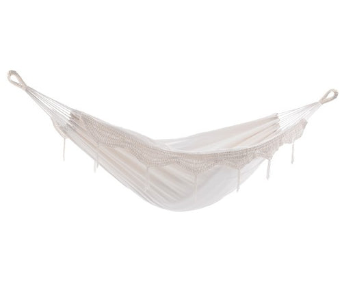 Deluxe Brazillian Double Hammock Natural With Fringe