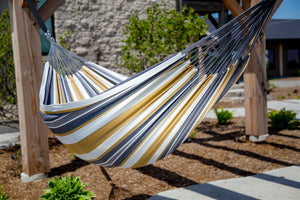Raw Cotton Desert Moon Deluxe Brazillian Double Hammock