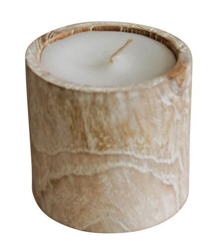 Bismark Candle White Wash 12x12x12 cm By Kelly Lane Pazaz Online
