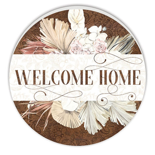 Bismark Welcome Round Timber Wall Art 48 cm  By Kelly Lane Pazaz Online