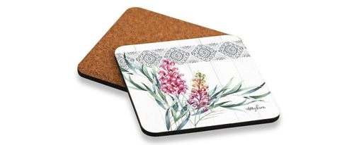 PROTEA GREVILLEA Coaster Square Set of 6 10x10 cm By Kelly Lane Pazaz Online
