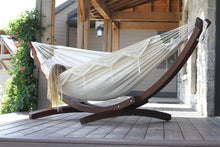 Load image into Gallery viewer, Wooden Arc Frame & Double Deluxe Hammock Set