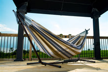 Load image into Gallery viewer, Rio Double Hammock with Universal Freestanding Hammock Stand Set - more colors available