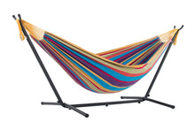 Load image into Gallery viewer, Bright Colourful Relaxing Holiday Hammock With Stand