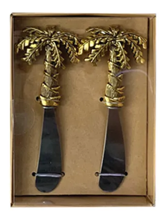Fiesta Palm Cheese Knife Set of 2 By Kelly Lane Pazaz Online