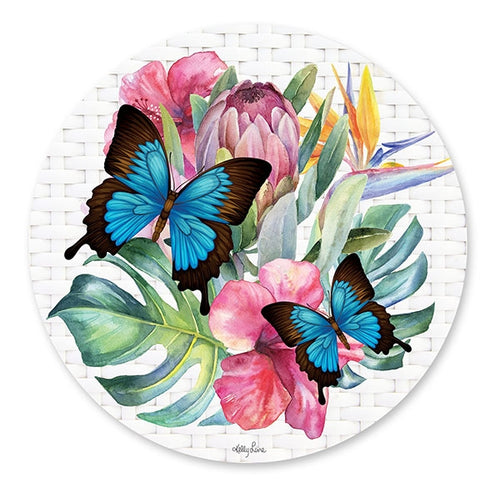 Fiesta Butterfly Design Round Placemat By Kelly Lane Pazaz Online
