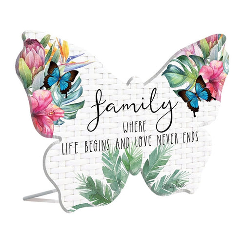 Fiesta Family 3D Sentiment Plaque By Kelly Lane Pazaz Online