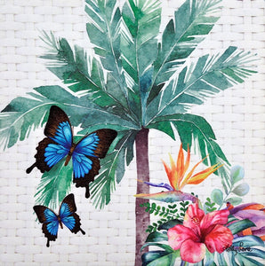 Fiesta Floral Butterfly Wall Canvas By Kelly Lane Pazaz Online