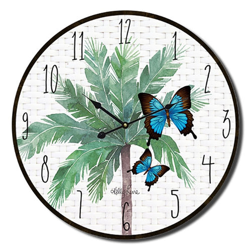 Fiesta Floral  Wall Clock By Kelly Lane Pazaz Online