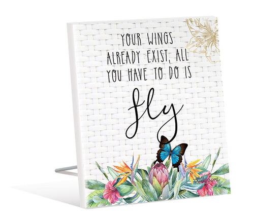Fiesta Fly 3D Sentiment Plaque By Kelly Lane Pazaz Online