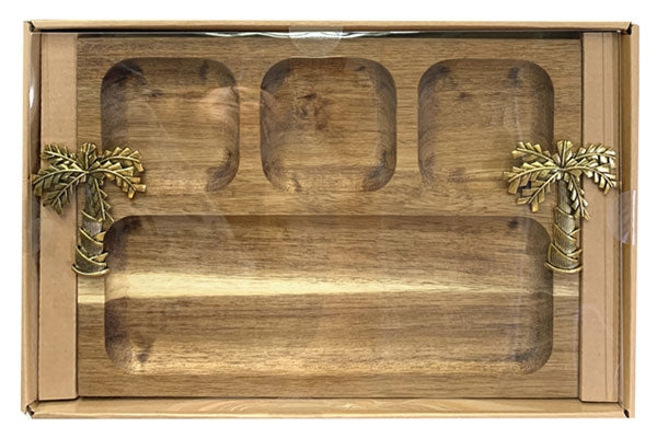 Fiesta Palm Platter Divided By Kelly Lane Pazaz Online