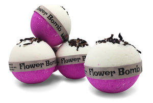 Flower Bomb Bubble Bath Bomb with Pink Lychee Set of 6