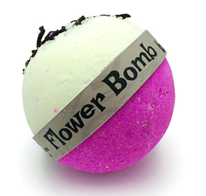 Flower Bomb Hibiscus Flower & Pink Lychee Fizzy Bubble Bath Bomb