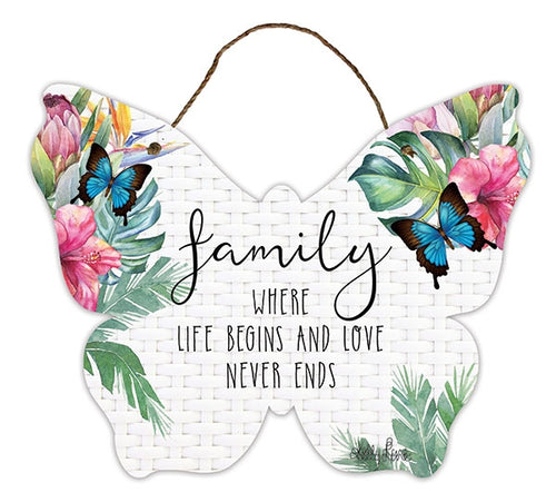 Fiesta Hanging Tin Sign Family By Kelly Lane Pazaz Online