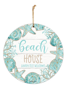 Hanging Tin Sign 30 cm Reef House By Kelly Lane Pazaz Online