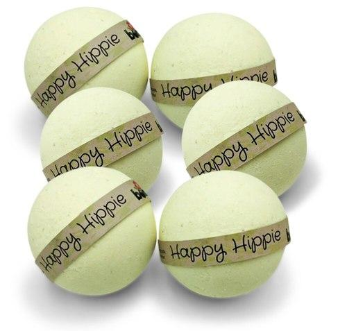 Happy Hippie Hemp Oil Skin Loving Bath Bomb Pack 6pc Set by Bomd Body