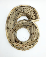 Load image into Gallery viewer, Driftwood House Number 6 Rustic Timber Design
