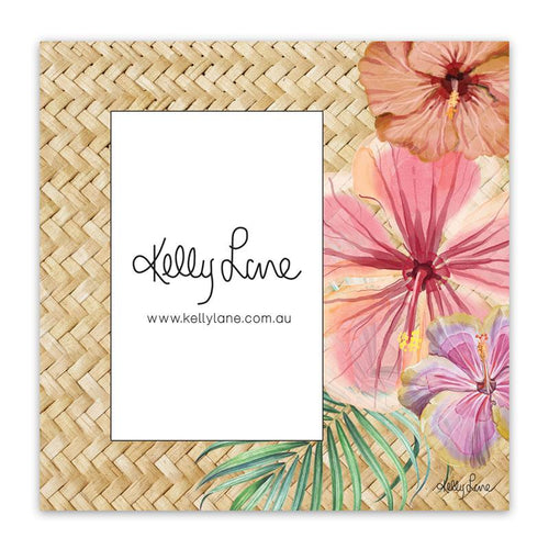 Photo Frame 20x20 6x4 3D Hibiscus RATTAN