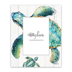 Photo Frame 20x25 5x7 3D Turtles TWIN