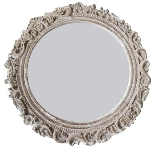 Lush Mirror 34X34 cm White Wash By Kelly Lane Pazaz Online