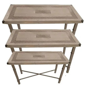 Lush Tables Set of 3 150, 120, 60 High By Kelly Lane Pazaz Online