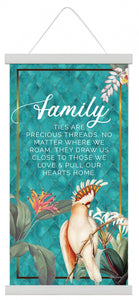 Lush Family Canvas Scroll 30x60 By Kelly Lane Pazaz Online