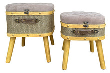 Load image into Gallery viewer, Lush Grey Stool Set of 2 L38x34x47cm M33x29x39cm By Kelly Lane Pazaz Online