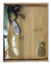 Load image into Gallery viewer, Lush Pineapple Board & Knife Set 24x19x3cm By Kelly Lane Pazaz Online