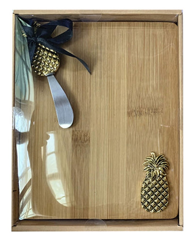Lush Pineapple Board & Knife Set 24x19x3cm By Kelly Lane Pazaz Online