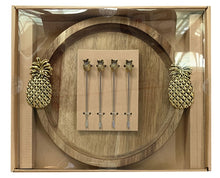 Load image into Gallery viewer, Lush Pineapple  Platter Round & Aperitif Fork Set 31x27cm By Kelly Lane Pazaz Online