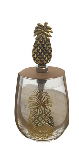 Lush Pineapple Wine Glass & Stopper By Kelly Lane Pazaz Online