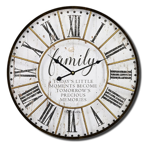 Native Family Clock 34cm  By Kelly Lane Pazaz Online
