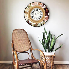 Load image into Gallery viewer, Native Protea Clock 60cm By Kelly Lane Pazaz Online