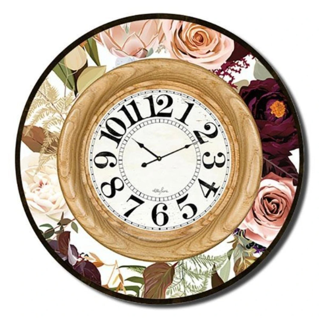 Native Protea Clock 60cm By Kelly Lane Pazaz Online