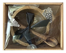 Load image into Gallery viewer, Natives Grapes Dip Bowl & Spoon Set 15x11x6 cm By Kelly Lane Pazaz Online