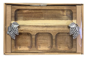 Natives Grapes Platter Divided 35x22x4 cm By Kelly Lane Pazaz Online