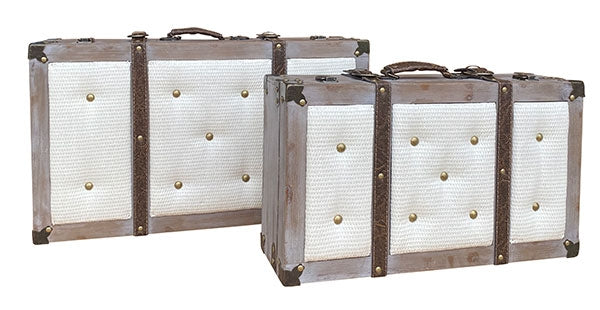 Natives Grey Suitcase Set of 2 S1-62x36x22cm  S2-51x29x16cm By Kelly Lane Pazaz Online