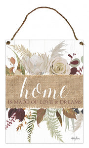 Natives Home Hanging Tin Sign 30x40cm  By Kelly Lane Pazaz Online