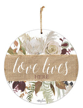 Load image into Gallery viewer, Natives Love Lives Hanging Tin Sign 30cm By Kelly Lane Pazaz Online